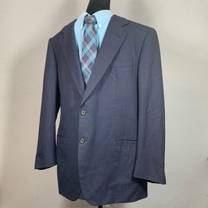 BRIONI Navy Blue 100% Wool Sport Coat Size 43